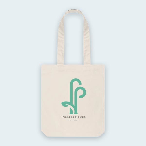 pilates power tote bag